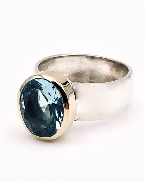 Blue Topaz ring by Ithil Metalworks
