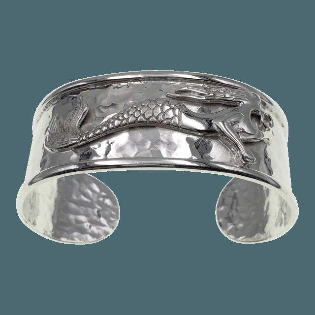 sterling silver mermaid cuff bracelet