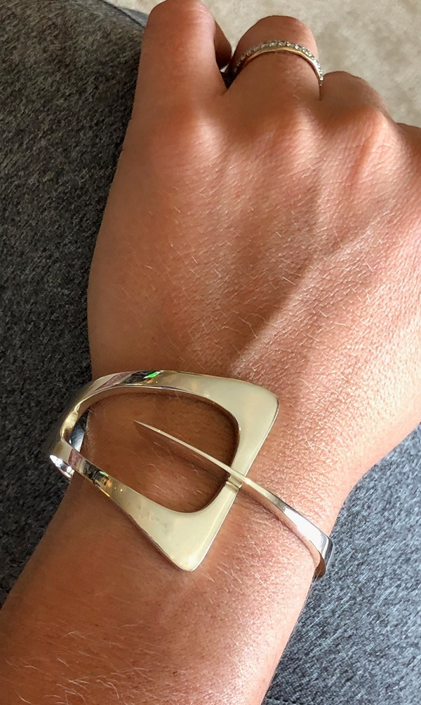 interlocked sterling bracelet